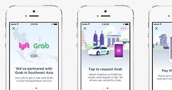 Lyft và Grab hợp tác, cho phép người dùng gọi chéo xe