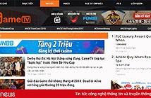 Mạng xã hội gametv.vn quảng cáo cho trang cờ bạc trực tuyến