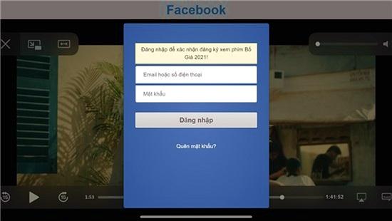 Trò lừa xem 'Bố già' bản lậu chiếm tài khoản Facebook
