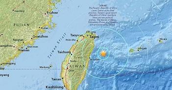 Động đất mạnh rung chuyển Đài Loan