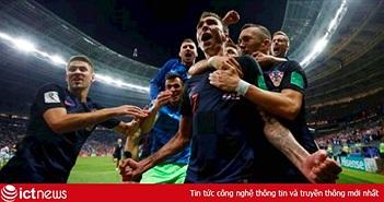 Bảng xếp hạng World Cup 2018 mới nhất sau trận Croatia thắng Anh
