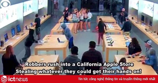 Cửa hàng Apple bị cướp iPhone, MacBook trị giá 27 ngàn USD chỉ trong vài giây