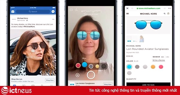 Quảng cáo trên Facebook sắp hỗ trợ AR, cho phép thử đồ ngay trước khi mua