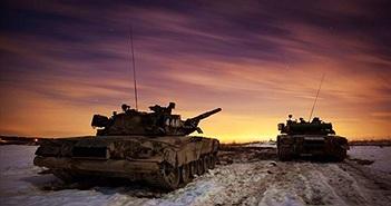 Đẹp mê hồn cảnh xe tăng T-80U tác chiến ban đêm