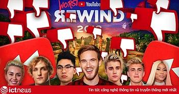 """10 video """"bị ghét"""" nhiều nhất trên YouTube"""