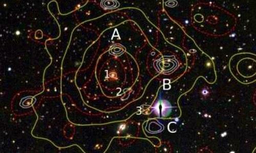 Bí ẩn quầng sóng vô tuyến trong cụm thiên hà kỳ lạ