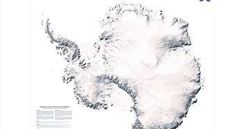 Độ phân giải siêu cao của bản đồ mới về lục địa băng giá