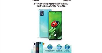 Samsung Galaxy A51 ra mắt tại Việt Nam: đầu tiên thế giới, camera chụp macro, giá 7,9 triệu đồng