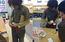 Gã ăn mày vào cửa hàng điện thoại hỏi mua iPhone 6