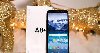Mở hộp và trên tay Samsung Galaxy A8+ (2018): mở khóa khuôn mặt, selfie xóa phông