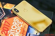 Trên tay iPhone X 256GB mạ vàng 24K đầu tiên tại Hà Nội