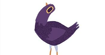 Con chim tím đang gây bão trên mạng