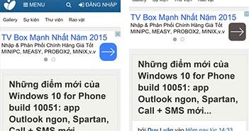 So sánh Spartan và Internet Explorer trên Windows 10 build 10051