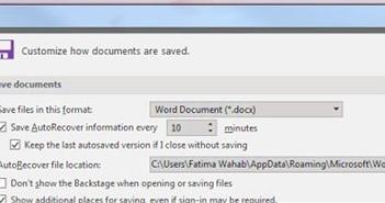 Cách chuyển thư mục MS Word Auto Recovery vào đám mây để bảo vệ dữ liệu