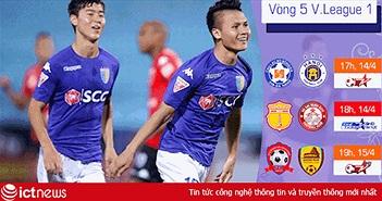 Vòng 5 V.League 1 cuối tuần này: 4 trận thư hùng hấp dẫn
