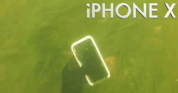 iPhone X vẫn hoạt động bình thường sau 2 tuần nằm dưới sông