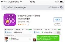 Yahoo! Messenger lặng lẽ biến mất trên App Store?