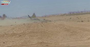 Xót xa nhìn xác trực thăng Mi-25 Nga bị IS bắn rơi