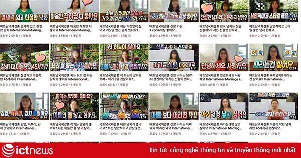 Hàng nghìn video YouTube quảng cáo cô dâu Việt như món hàng ở Hàn