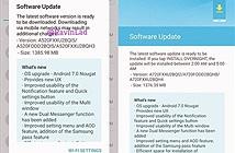 Galaxy A5 và Galaxy A7 (2017) bắt đầu nhận cập nhật Android 7.0 Nougat