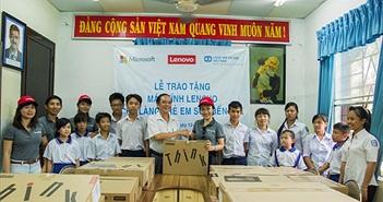 Lenovo và Microsoft tặng máy tính cho Làng trẻ em SOS Bến Tre