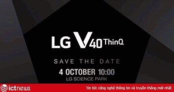 LG thông báo ra mắt V40 ThinQ ngày 4/10