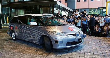 Nhật Bản thử nghiệm taxi tự lái đầu tiên trên thế giới