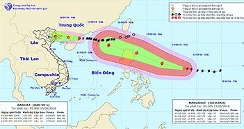 Siêu bão Mangkhut giật trên cấp 17, tăng tốc tiến vào biển Đông
