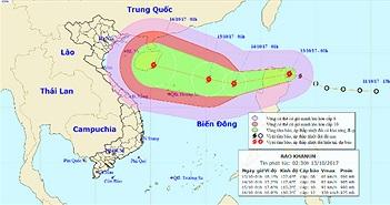 Tin bão trên biển Đông: Cơn bão Khanun