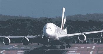 Xem siêu máy bay chở khách hạ cánh trong điều kiện ngược gió