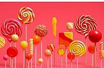 Danh sách thiết bị Android được nâng cấp lên Lollipop
