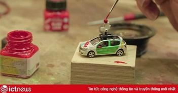 Google chế tạo chiếc xe Street View thu nhỏ, để giúp chúng ta có thể tham quan bên trong mô hình lớn nhất thế giới