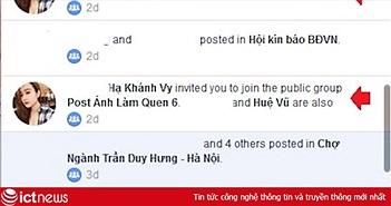 Hướng dẫn chặn bị mời vào nhóm trên Facebook