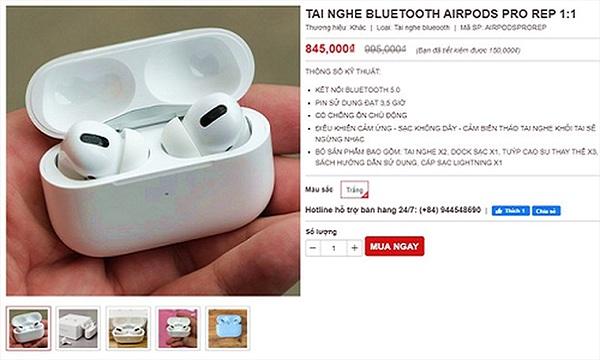 AirPods Pro nhái xuất hiện tại Việt Nam, chưa đến 1 triệu đồng