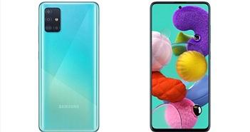 Galaxy A71 'lặng lẽ' ra mắt: màn hình đục lỗ, 4 camera 64MP, chạy Android 10