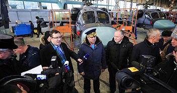 Tư lệnh không quân Nga thăm nhà máy chế tạo trực thăng Ka-52