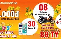 Vietnamobile khuyến mại nạp thẻ 20.000 đồng trúng iPhone 6