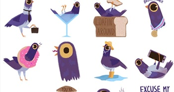 Trash Dove - con chim tím 'làm loạn' Facebook