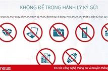 Thiết bị di động nào bị cấm mang lên máy bay?
