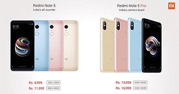 Redmi Note 5/Note 5 Pro ra mắt: Face Unlock, camera kép, giá từ 156 USD