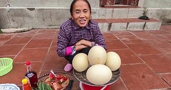 Làm món trứng đà điểu khổng lồ, Bà Tân bị dân tình chỉ ra lỗi sai