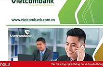 """Vietcombank trần tình việc xuất hiện thơ chế trên website là do """"cán bộ kỹ thuật sơ suất"""""""