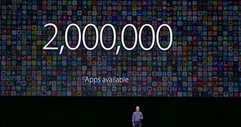 Kho ứng dụng App Store của Apple đã có hơn 2 triệu ứng dụng