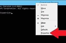 12 phím tắt trong Windows 10 với cửa sổ lệnh Command Prompt