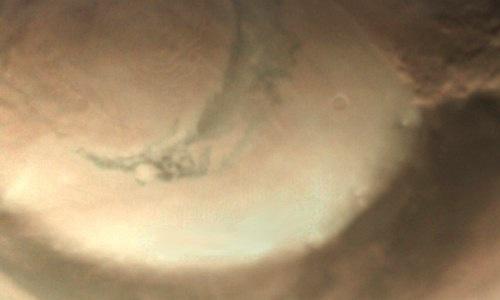 Thêm bão bụi siêu khủng xuất hiện ở cực Bắc sao Hỏa