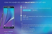 Hệ thống bán lẻ săn đón khách hàng đặt cọc Galaxy Note 5