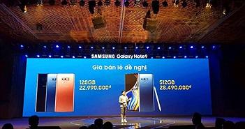 Tại Việt Nam, siêu phẩm Samsung Galaxy Note 9 có giá từ 23 triệu đồng