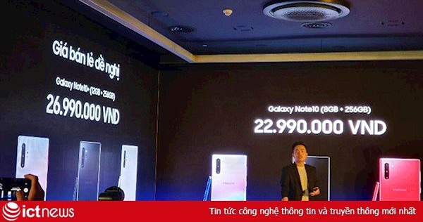 Samsung công bố giá Galaxy Note 10 tại Việt Nam: 22,99 triệu đồng và 26,99 triệu đồng