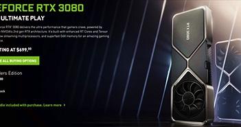 """Nvidia dừng bán RTX 3080 và 3090 trực tuyến, chuyển """"trách nhiệm"""" sang Best Buy"""