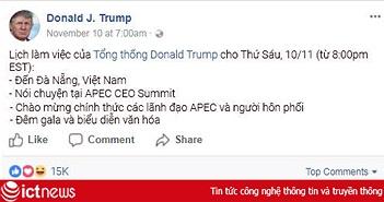 Tổng thống Donald Trump viết gì trên mạng khi đến Việt Nam